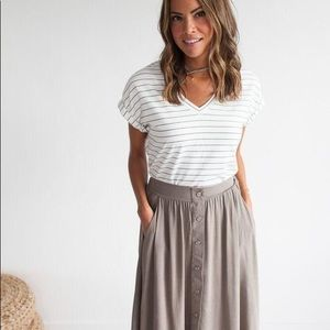 Bohme Classic Attraction Button Front Skirt
